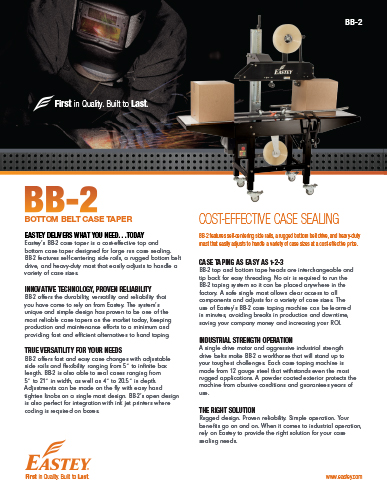 Eastey BB-2 Brochure