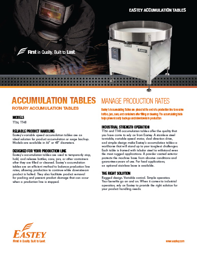 Accumulation Table Brochure