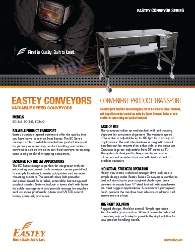 Eastey Conveyor Brochure