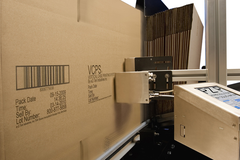 Eastey Vertical Case Transport System VCTS Case Transport Designed for Inkjet Printing