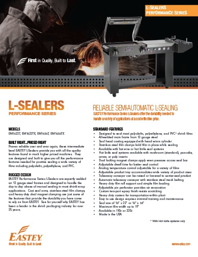 L-Sealers Performance Series Brochure