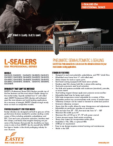 L-Sealers Professional Series Pneumatic