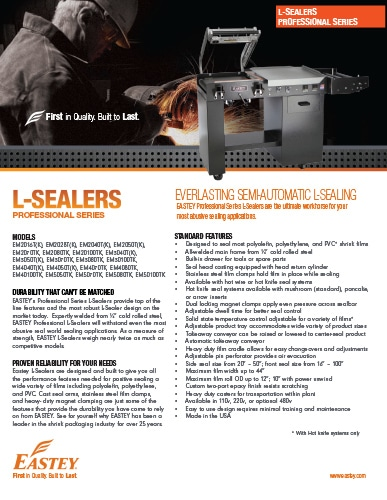 L-Sealers Professional Series Brochure
