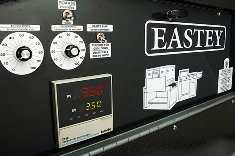 Eastey Performance Series Shrink Tunnels Control Panel